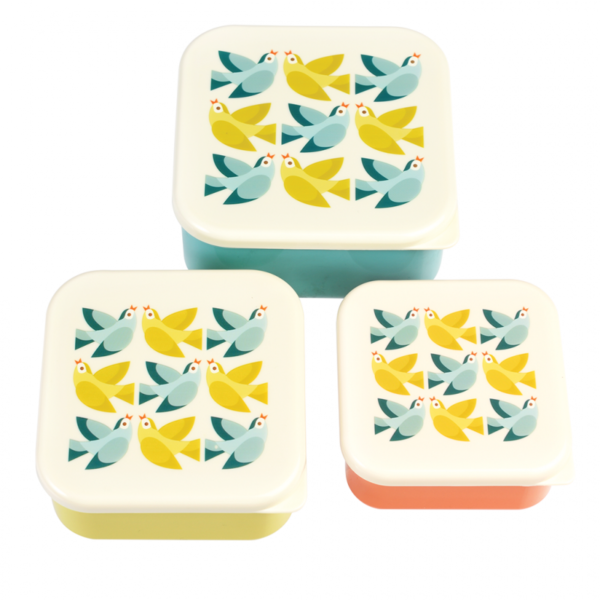 28921 3 Love Birds Snack Boxes Set 3