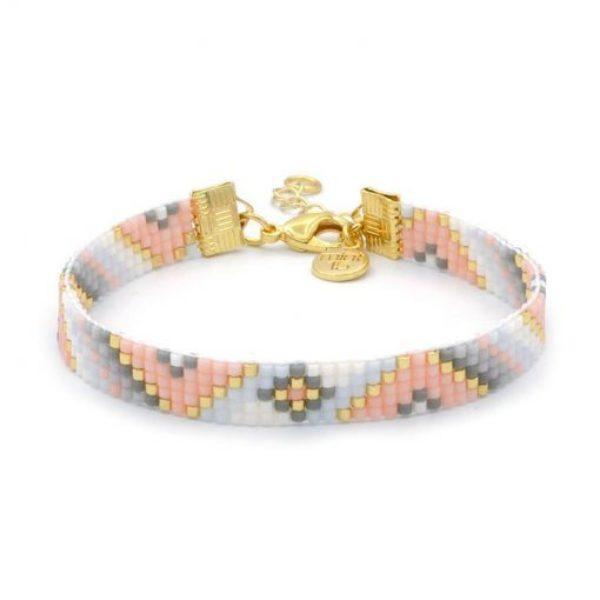 Beaded Bracelet Soft Pastel Twist Goud 510X510