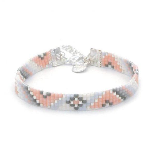 Beaded Bracelet Soft Pastel Twist Zilver 510X510