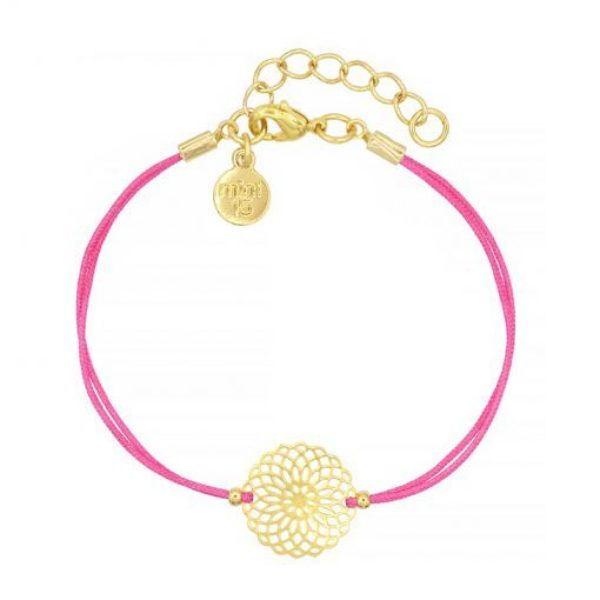 Boho Ornament Hot Pink Goud 510X510