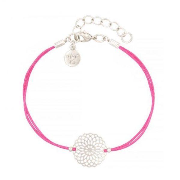 Boho Ornament Hot Pink Zilver 510X510