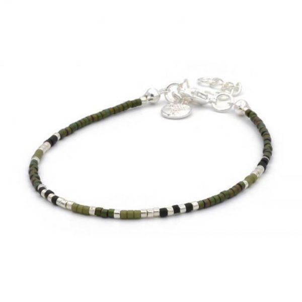 Delicate Bracelet Army Green Zilver 510X510