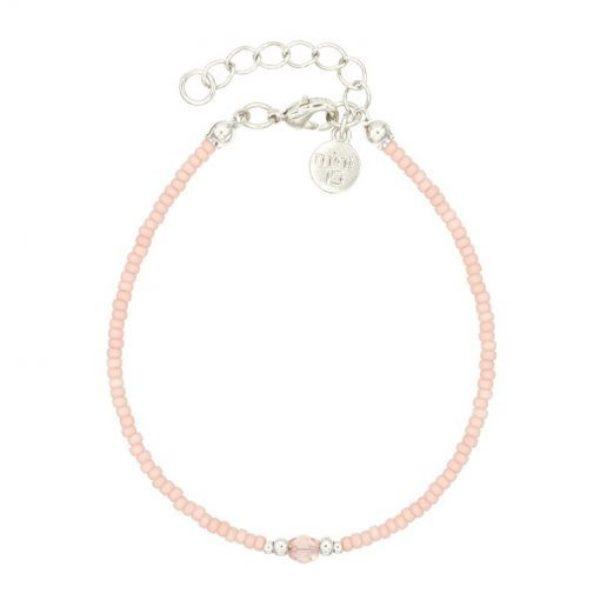 Diamond Bracelet Soft Pink Zilver 510X510