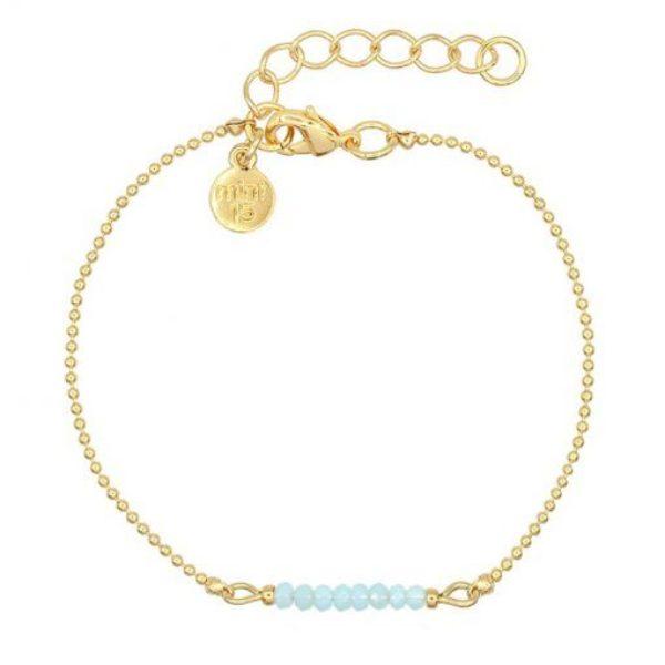 Little Sparkles Soft Aqua Blue Goud 510X510