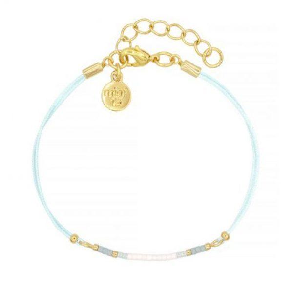 Mini Bracelet Light Blue Goud 1 510X510