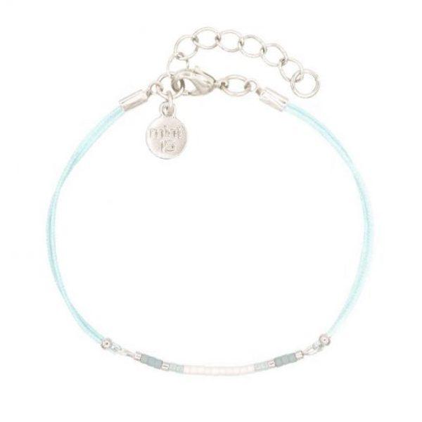 Mini Bracelet Light Blue Zilver 1 510X510