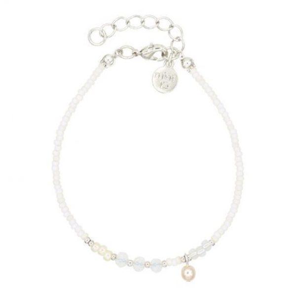 Mix Bracelet White Pearl Zilver 510X510