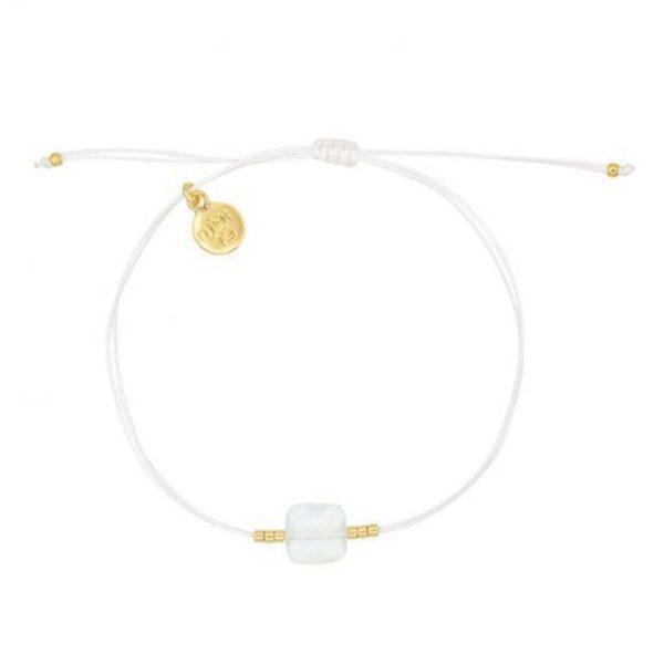Opal Stone Bracelet White Goud 510X510