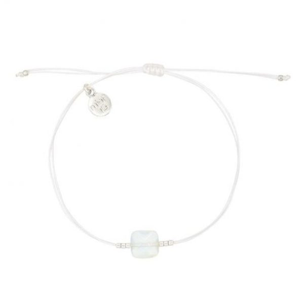 Opal Stone Bracelet White Zilver 510X510