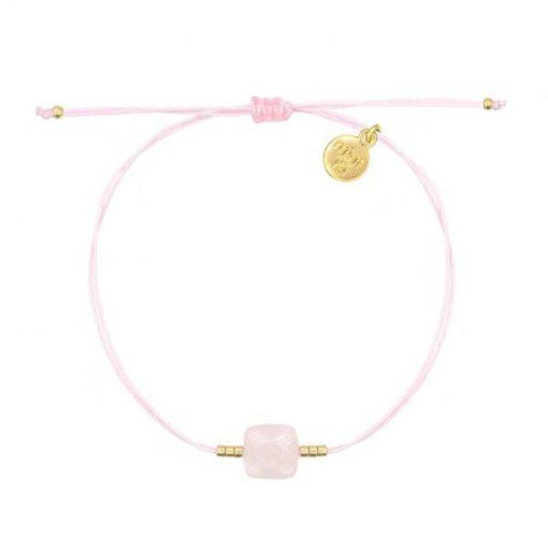 Rose Quartz Bracelet Soft Pink Goud 510X510