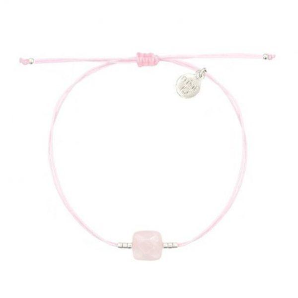 Rose Quartz Bracelet Soft Pink Zilver 510X510