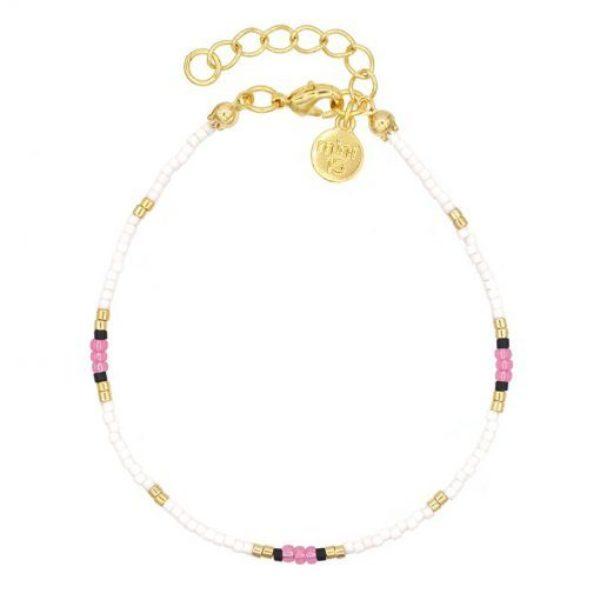 Surf Beads Bracelet Pink Goud 510X510
