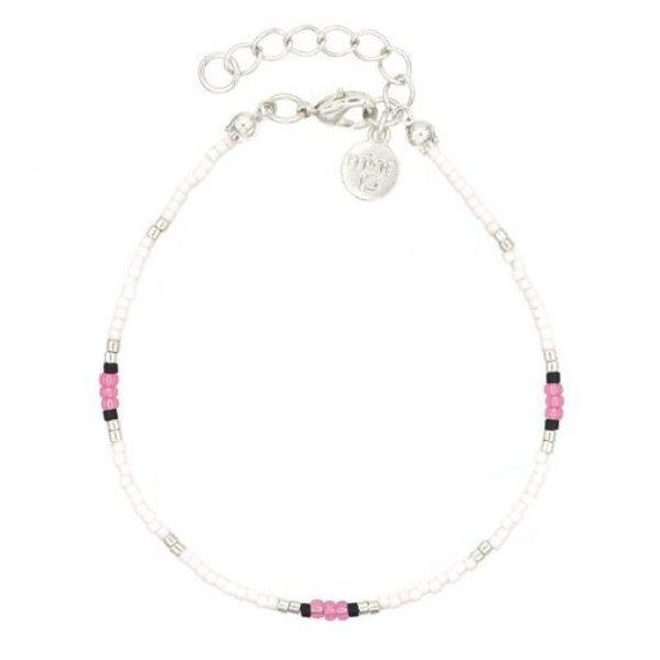 Surf Beads Bracelet Pink Zilver 510X510