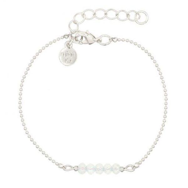 White Opal Sparkles Zilver 510X510