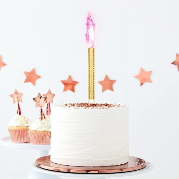Tw 840 Cake Fountain With Pink Flame