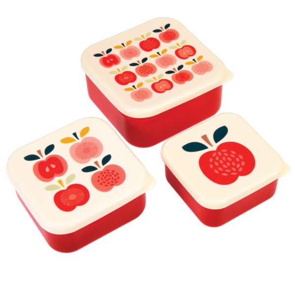 Vintage Apple Snack Boxes Set 3 28002 3