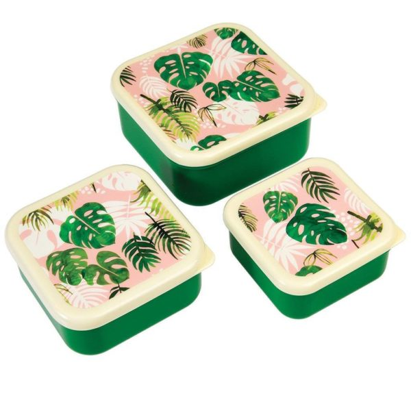 Rex London Snack Boxes 3 Er Tropical Palm